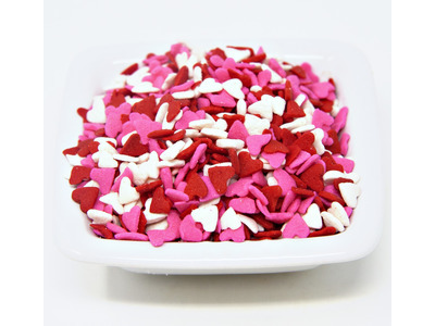 Pink, Red & White Heart Shapes 5lb