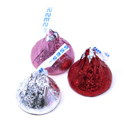 Hershey's Kisses®, Red/Silver/Pink 25lb