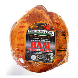 Hickory Smoked Skinless, Shankless Ham 15lb