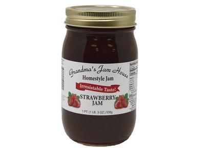 Homestyle Strawberry Jam 12/16oz
