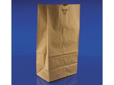 20lb Brown Paper Bags 8.25x5.25x16 500ct