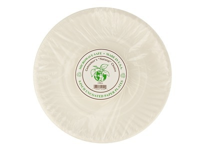 "9"" Paper Plates 10/100ct"
