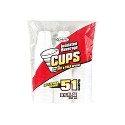 8.5oz Foam Cups 24/51ct