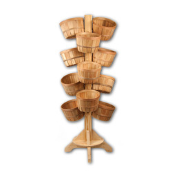 Wooden 14 Basket Tree Display Kit 1ea