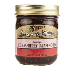 Red Raspberry Jalapeno Jam  12/9oz