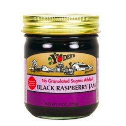 Black Raspberry Jam, no sugar added 12/9oz