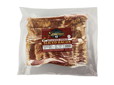 Smokehouse 61 Sliced Bacon, Applewood 3/4lb